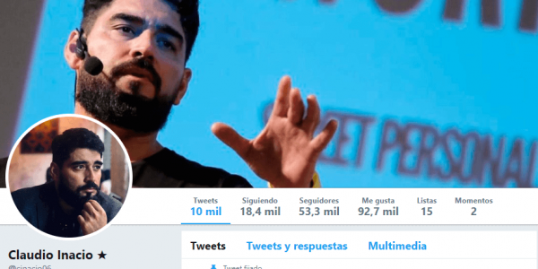 twitter de Claudio Inacio